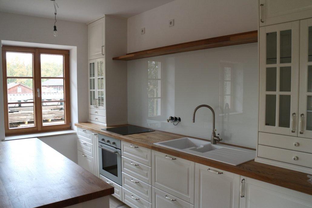 Küchenrückwand Weiß küche glasteam gmbh